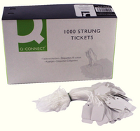 Q-Connect Strung Ticket 27x16mm White Pk 1000 KF01616