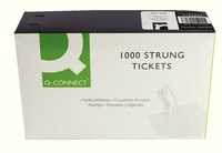 Q-Connect Strung Ticket 37x24mm White Pk 1000 KF01618