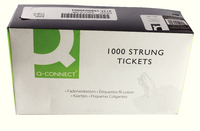 Q-Connect Strung Ticket 70x44mm White Pk 1000 KF01622