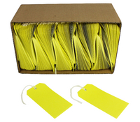 Q-Connect Strung Tag 120x60mm Yellow Pk 1000 KF01626