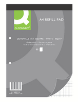Q-Connect Refill Pad A4 Quad 80Leaf