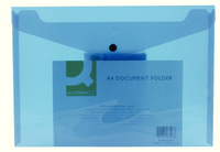 Q-Connect Document Folder Polypropylene A4 Blue (Pk 12) KF03596