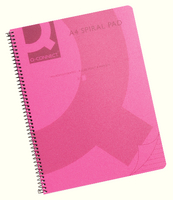 Q-Connect Poly Spiral A4 Book Trans Pink