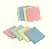 Q-Connect Pastel Quick Note Repositionable Pad 76x76mm Rainbow
