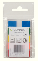 Q-Connect Page Marker 1/2 inch 5-Colour Assorted (5 Pads of 26) KF14966