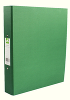 Q-Connect 2-Ring Binder A4 25mm Paper-Backed Green KF20037