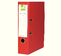 Q-Connect Lever Arch File A4 Paper-Backed Red