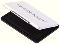 Q-Connect Medium Stamp Pad Metal Case Black KF25211