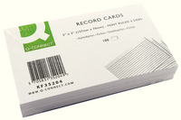 Q-Connect Record Card 5x3 Inches Ruled Feint White (Pk 100) KF35204