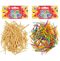 Craft Kit Match Style Wooden Sticks - Choose from Plain Or Coloured
