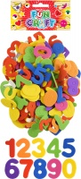 Craft Kit Foam Numbers Stickers -  Plain Colours