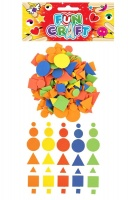 Craft Kit Foam Geometric Shapes Stickers - Assorted Colours