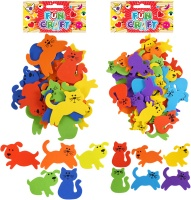 Craft Kit Cat & Dog Theme Foam Stickers - Assorted Colours - Choose from Small or Large
