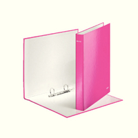Leitz Wow A4+ 2D-Ring Binder 25mm Pink 42410023