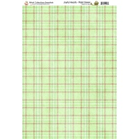 Nitwit Collection Joyful Hearts Plaid Green Paper A4 10 Sheets