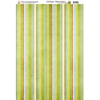 Nitwit Collection Tail Wags Stripe Green Paper A4 10 Sheets