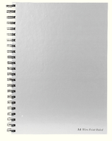 Pukka Pad Wirebound Book A4 160 Pages Feint Perforated 90gsm Silver/Black WRULA4