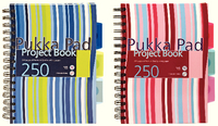 Pukka Pad A5 Project Book Hardback 250 Pages Ruled Feint CBPROBA5
