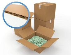 0201 Corrugated Single Wall Medium Parcel Boxes (483mmx305mmx305mm) Pack of 25