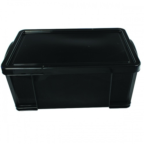 Really Useful Black 64L Rcyc Storage Box