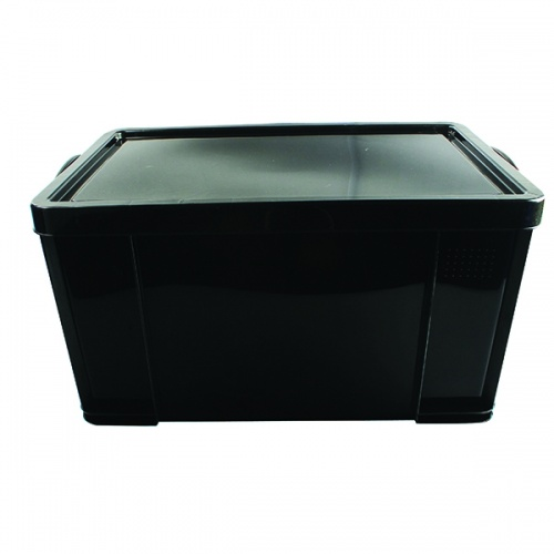 Really Useful Black 84L Rcyc Storage Box