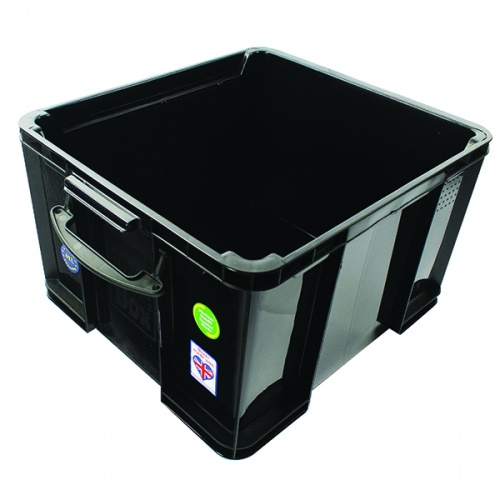 Really Useful Black 42L Rcyc Storage Box