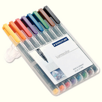 Staedtler Lumocolor Medium Tip Water Soluble Pen Wallet of 8 315-WP8