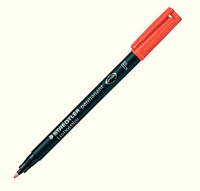 Staedtler Lumocolor Fine Tip Permanent Pen Red 318-2
