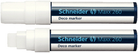 Schneider Deco Liquid Chalk Marker Chisel Tip 260 White 2-15mm 126049