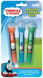 Thomas & Friends 3 Pack Of Roller Stamper Pens