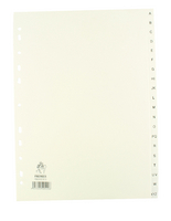 Index A4 A-Z Polypropylene White WX01351