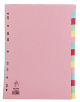 A4 Manilla Divider 15-Part Pink With Multi-Colour Tabs WX01516