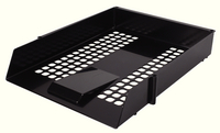 Plastic Letter Tray Black WX10050 - Pack of 12