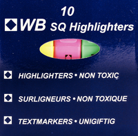 HiGlo Highlighter Assorted Pk 10 WX16351A