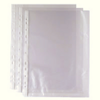 Whitebox Punched Pocket A4 Clear 270486 (Pk 100) WX24001