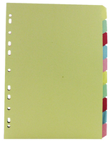 A4 Manilla Divider 10-Part Multi-Colour WX26082