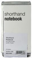 Spiral Shorthand Notebook 150 Leaf (Individual or Pk 10) WX31002