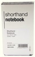 Spiral Shorthand Notebook 80 Leaf WX31003 ( Buy Individually or Pack of 10)
