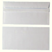 Envelope DL 80gsm White Self-Seal Pk 1000 WX3454