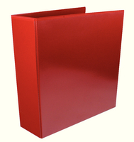 Presentation 4D-Ring Binder 65mm Red WX70296 (Pk 10)