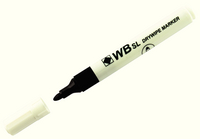 Whiteboard Marker Bullet Tip Black WX98001 (Pack of 10)