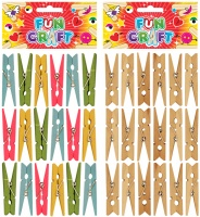 Craft Kit 48mm Wooden Pegs - Choose from Plain Or Coloured