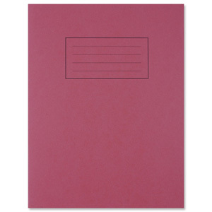 9''x7'' Red Exercise Book - Lined with Margin
