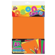 10 Sheets A3 Neon Card
