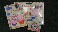Peppa Pig Xmas Artist Pad, Sticker Pad & Sticker Pod Set