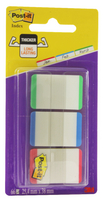 3M Post-it Strong Index 1 inch Green/Red/Blue 686L-GBR