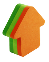 Post-it Neon Die Cut Arrow Note Cube Pack of 12 3M34983