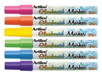 Artline Glass Markers Assorted Pk6