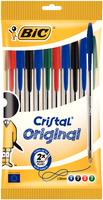 Bic Cristal Ball Point Pens Assorted Pk10 830865