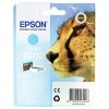 Epson T0712 cyan inkjet cartridge for use with Stylus D78/DX4000/DX4050/DX5050/DX6000/DX6050/DX7000F printers. (Cheetah) EP32973